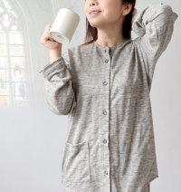 襟なしニットパジャマ夏