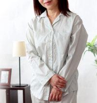 レディースサテン開襟パジャマ日本製