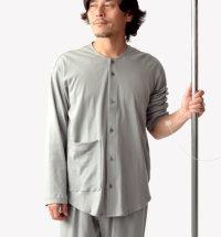 襟なしパジャマ冬メンズ