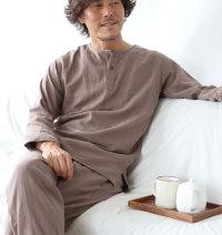 ヘンリーネックおしゃれパジャマ